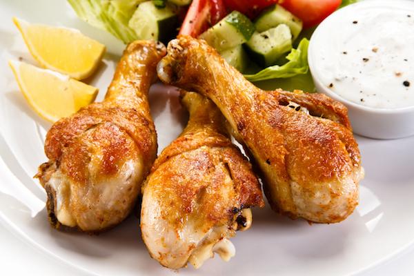 muslos de pollo keto
