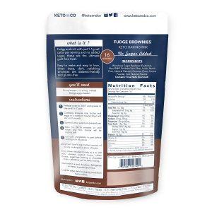 tabla nutricional brownie keto